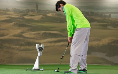 "Professional putter fitting and stroke analysis using the science and motion ""Sam Putt Lab"""